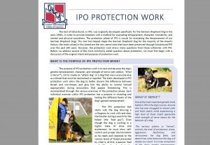 IPO Protection Work