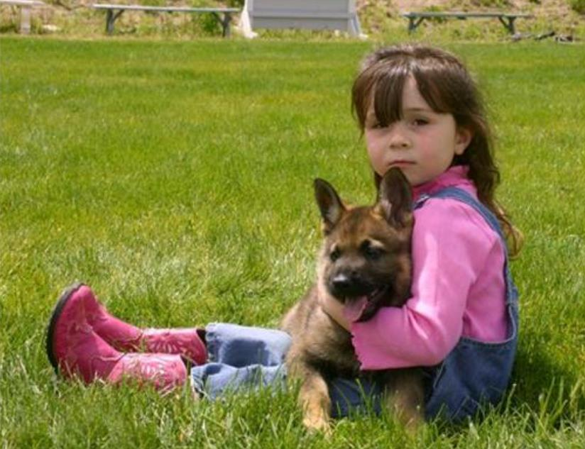 Puppy with girl